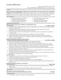 Sales Manager Experience Resume Operations And Sales Manager