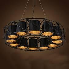 large vintage loft black wrought iron spider pendant light for dining room restaurant lounge light fixture pendant lamp in pendant lights from lights