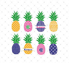 pineapple silhouette png. pineapple svg cut files - dxf png cutting for cricut and silhouette by png o