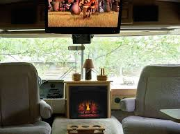 this customer put an electric fireplace in their rv so cool