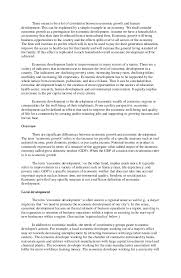 essay on economic development vs environment