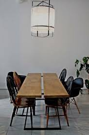 our modern wood metal table with scandinavian vine chairs first point coffee