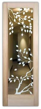 glass etching designs for doors interior doors with glass etching frosted glass design leaves foliage cherry glass etching designs for doors