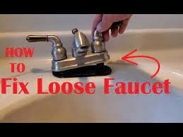how to fix loose sink faucet you