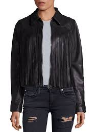 true religion leather fringe moto jacket black women s vests faux