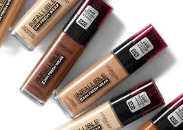 crystal candy makeup review and swatches l oréal paris infallible 24h fresh wear foundation