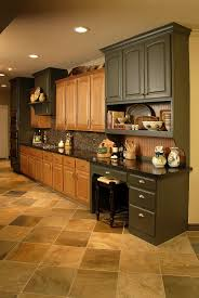 Two Tone Kitchen Cabinet 2 Tone Cabinets Both Stained Pictures