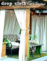 diy outdoor privacy curtains porch curtains outdoor