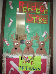 christmas office door decorations. Decorative Door Ideas Christmas Office Reindeer Stable To Decorate For Decorations S