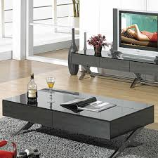 full size of living room awesome modern coffee tables black reflective glass top stainless steel