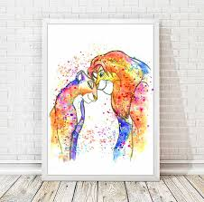 Lion King Bedroom Decorations Lion Watercolor Etsy