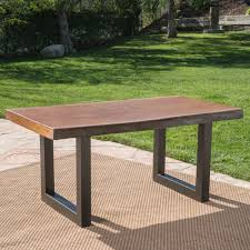 Outdoor Setting Concrete Table