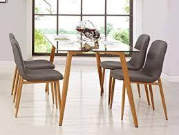 Mobilier Deco Table Scandinave 4 Chaises Scandinave En Tissu