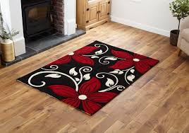 black red small x extra large modern rug thick fl carved quality runner rugs