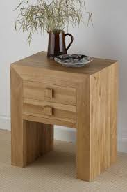 Oak Night Stands Bedroom Nightstands For In Bc Used 2018 Including  Fascinating Furnitures Inspiring Solid Wooden Nightstand Design With Two  Small Drawers ...