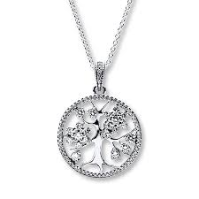 pandora 31 5 necklace family tree sterling silver