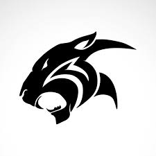 Simple color vinyl Black Panther Puma Head | Stickers Factory