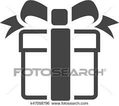 Bw アイコン 贈り物の箱 クリップアート