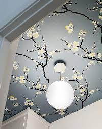 gorgeousjapanese style ceiling wallpaper idea