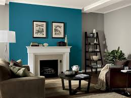room blue accent wall black