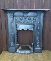 art nouveau fireplace cast iron arts and craft fire surround full cast period on gumtree