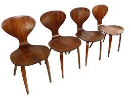 cherner furniture. Set Of 4 Molded Plywood Dining Chairs Norman Cherner Mid-Century Modern Furniture V