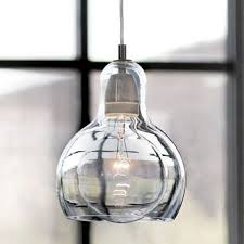 hand blown glass pendant lighting. Large Bulb Combined With Upper Bottle Shaped Hand Blown Glass Mini Pendant Lights Reflecting Outside Scenery Lighting K