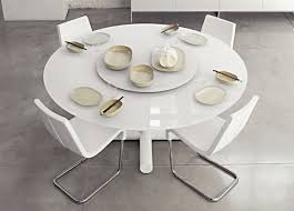expandable round dining table modern. white roundel expandable dining table round modern n