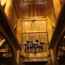 fantoft stavkirke church chandelier