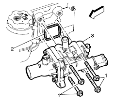 Install a new engine coolant thermostat housing seal 2