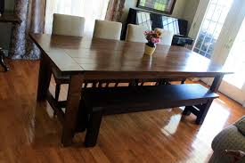 rustic dining table and bench inspiration j alexander hauser dining table front view dining room furniture
