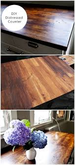 diy tutorial antiquing wood. 20 Easy Countertop DIY Tutorials To Revamp Your Kitchen - Check Out The Tutorial On How Diy Antiquing Wood .