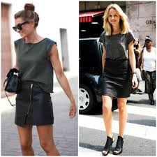 styling a leather mini skirt
