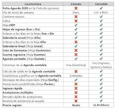 Descarga La Agenda Calendario 2020 En Excel Gratis