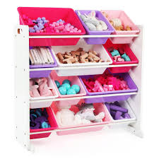 kids toy storage furniture. Tot Tutors Friends Collection White/Pink/Purple Kids Toy Storage Organizer  With 12 Plastic Kids Toy Storage Furniture R