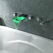 modern wall mount bathroom led waterfall roman bathtub faucet bath tub filler delta