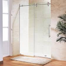 glass sliding shower doors frameless. VIGO Elan Adjustable Frameless Sliding Shower Door - Free Shipping Today Overstock 12636331 Glass Doors G