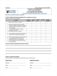 Orientation Feedback Form 24 Training Feedback Form Formats 1