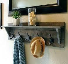 Black Coat Rack With Shelf Custom Entryway Mirror With Hooks And Shelf Black Coat Rack Brown Color