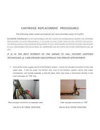 Cartridge Replacement Procedures Manualzzcom