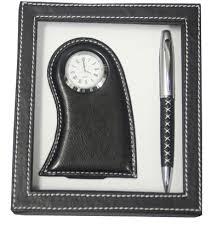 china desk clock ball pen gift set bm