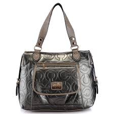 ... Coach In Printed Signature Large Silver Totes AZO Coach Embossed In Signature  Medium Coffee ...