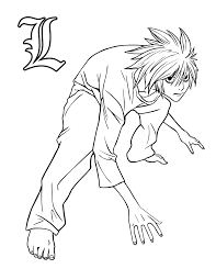 Death Note Coloring Pages Omfg I Found A L Page It Is Combining
