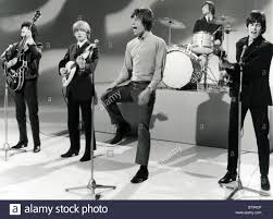 ROLLING STONES on a Dutch TV show in 1963. From l: Bill, Brian ...