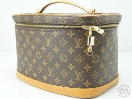 authentic pre owned louis vuitton lv monogram nice cosmetic vanity bag