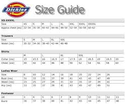Dickies Coverall Size Chart 78 Problem Solving Dickies Jeans Size Chart