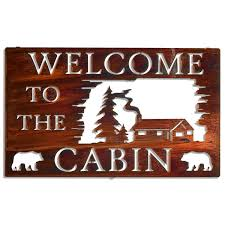 5512862075 i welcome to the cabin bear
