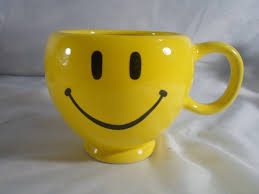 Smiley Face Coffee Mug Teleflora Retro Gift Bright Yellow Happy Smiley Face Coffee Mug