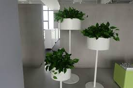 office flower pots. Uispair 100% Steel Floor Round Flower Pot For Modern Office Garden Decoration 5 Pots N