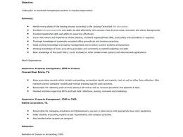 Resume Templates Sample Real Estate Manager Commercial Property